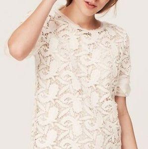 Loft Paisley Lace Crochet Blouse